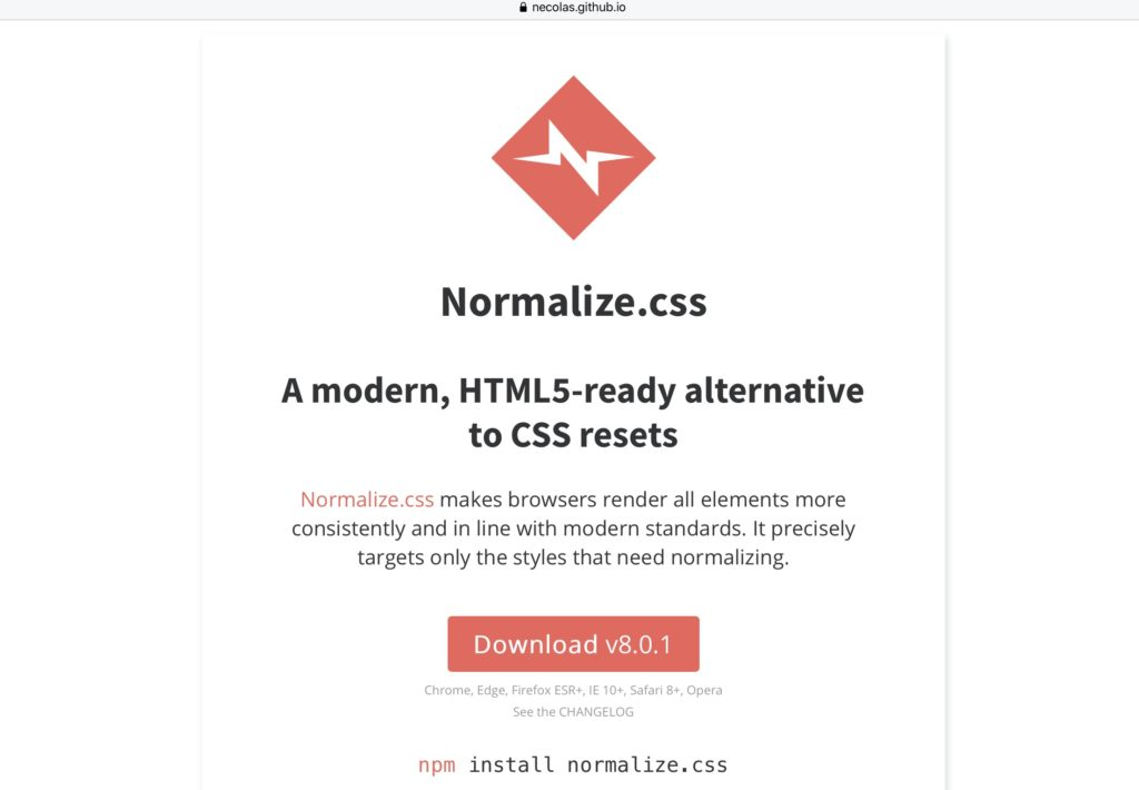 normalize.css von Nicolas Gallagher